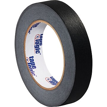 "Tape Logic™ 1"" x 60 Yards Masking Tape, Black, 12 Rolls (T93500312PKB),Size: med"