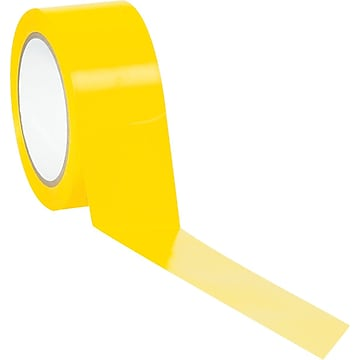 """Tape Logic™ 2"""" x 36 yds. Solid Vinyl Safety Tape, Yellow, 3/Pack"""
