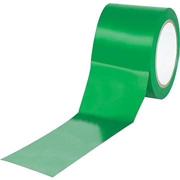 """Tape Logic™ 3"""" x 36 yds. Solid Vinyl Safety Tape, Green, 3/Pack"""