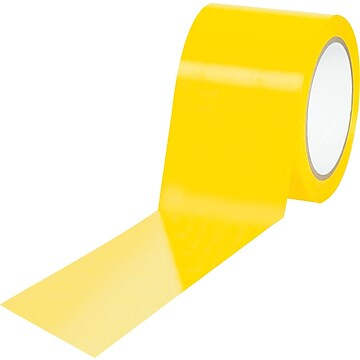 "Tape Logic™ 3"" x 36 yds. Solid Vinyl Safety Tape, Yellow, 3/Pack"