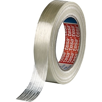 """Tesa Economy Grade Filament Strapping Tapes, .75""""W x 60 Yds, 48/Roll, Clear"""
