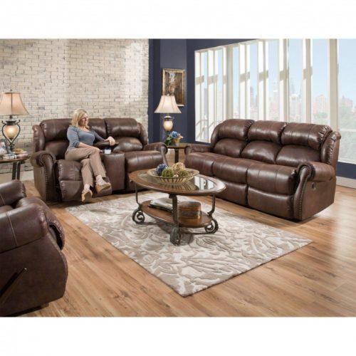 HomeStretch Wyoming 3 Piece Living Room Set