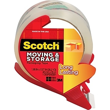 "Scotch Moving & Storage Standard Packing Tape, 1.9"" x 38 Yds., Clear, Roll (MMM3650SRD)"