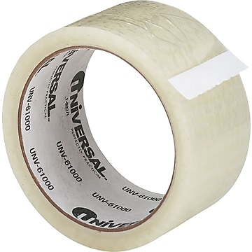 """Universal General Purpose Hot Melt Packing Tape, 2"""" x 55 Yds., Clear, Roll (UNV61000)"""