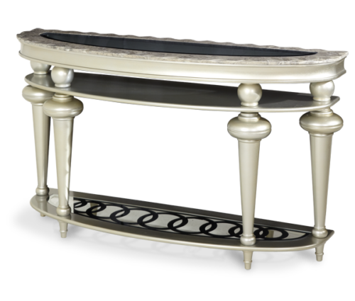 AICO Hollywood Swank Console Table by Michael Amini