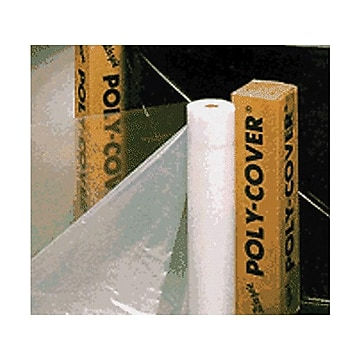 """Warp Brothers Poly-Cover 1200""""L x 120""""W Plastic Sheets, Clear (795-4X10-C)"""