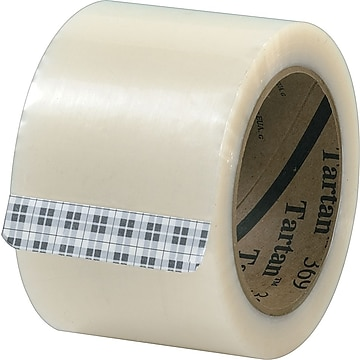 "3M Tartan #369 Hot Melt Packing Tape, 3""x110 yds., Clear, 24/CS,Size: med"