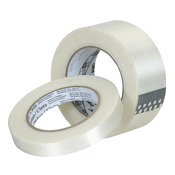 """3M™ 0.94"""" x 60.14 yds. Polypropylene Film Filament Tape, Clear, 36/Pack"""