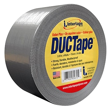 """""""Intertape Fix-It AC15 7 mil Utility Duct Tape, 1.87"""""""" x 60 yds., Silver, 3 Roll"""""""