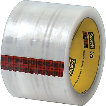 """""""Scotch #373 Hot Melt Packing Tape, 3""""""""x55 yds., Clear, 24/Case"""""""