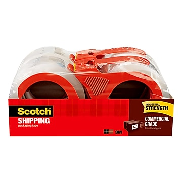 """""""Scotch Commercial Grade Shipping Packing Tape, 1.88"""""""" x 54.6 yds., Clear, 4 Rolls (3750-4RD)"""""""