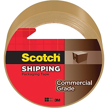 """""""Scotch Commercial Grade Shipping Packing Tape, 1.88"""""""" x 54.6 yds., Tan (3750T)"""""""