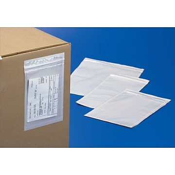 """Staples 04"""" x 06"""" Easy-Zip Adhesive Backed Bags, 500/Case (050406/ADMR46)"""