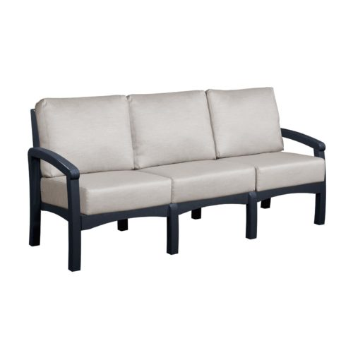 CRP Products Bay Breeze Black Frame Sofa with Spotlight Ash Cushion
