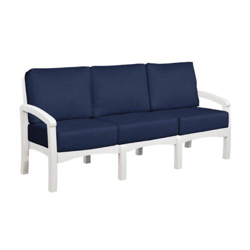 CRP Products Bay Breeze White Frame Sofa with Spectrum Indigo Cushion