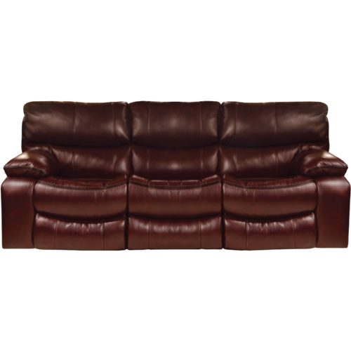 Catnapper Camden Lay Flat Power Reclining Sofa in Walnut