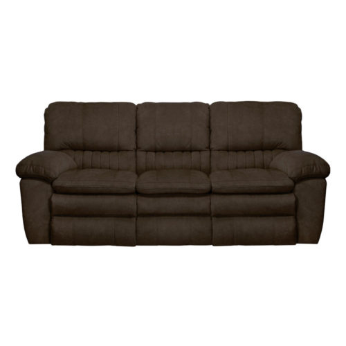 Catnapper Reyes Lay Flat Reclining Sofa in Chocolate