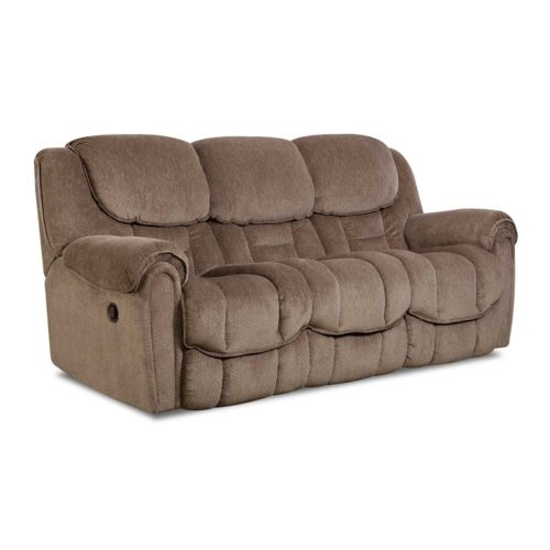 HomeStretch Del Mar Reclining Sofa in Taupe