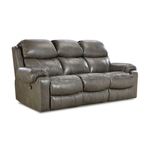 HomeStretch Hayden Power Reclining Sofa in Light Grey