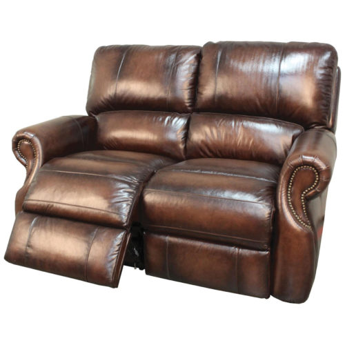 Parker Living Prestige Hawthorne Dual Power Recliner Loveseat in Brown Wipe