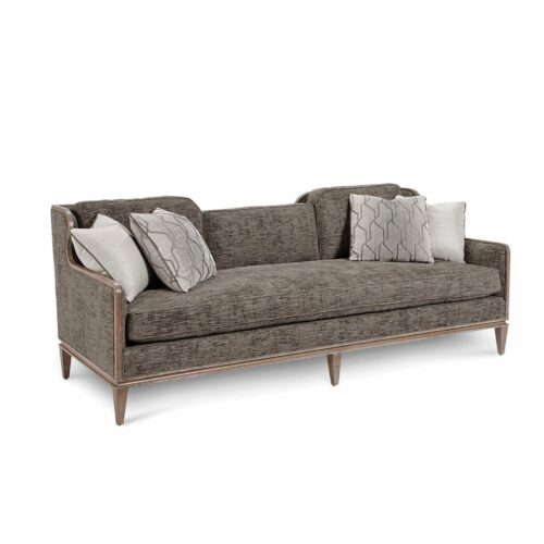 A.R.T. Furniture Cityscapes Upholstery Fontaine Graphite Scoop Back Sofa, 30.5 in. W x 22 in. D x 18 in. H