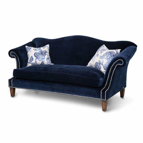 AICO Furniture Studio Los Feliz Sofa By Michael Amini, 75.5 in. W x 34.5 in. D x 36.5 in. H in Navy
