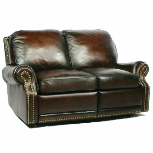 Barcalounger Vintage Premier Ii Loveseat Sofa Recliner in Stetson Coffee, 62 in. W x 39.5 in. D x 38 in. H
