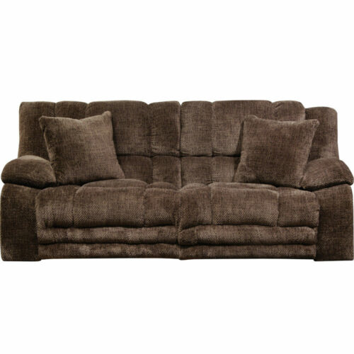 Catnapper Branson Power Lay Flat Reclining Sofa With Extended Ottoman in Chocolate, 93 in. W x 41 in. D x 41 in. H | 100% Steel