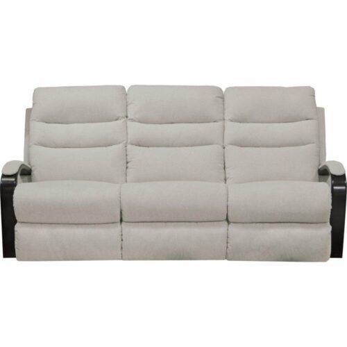 Catnapper Jansen Power Lay Flat Reclining Sofa in Shell, 78 in. W x 41 in. D x 41 in. H   100% Steel