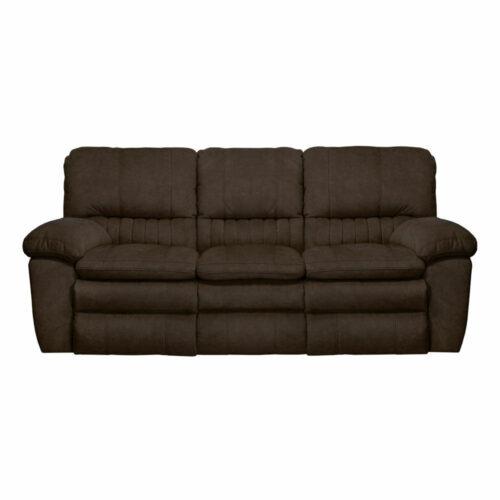 Catnapper Reyes Power Lay Flat Reclining Sofa in Chocolate, 91 in. W x 40 in. D x 41 in. H | 100% Steel