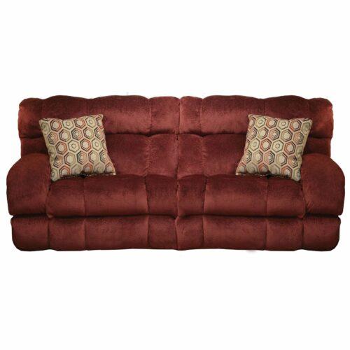 Catnapper Siesta Queen Sleeper in Wine Sofa, 93 in. W x 41 in. D x 43 in. H | Polyester Fabric
