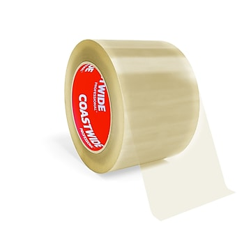 """Coastwide Professional™ 3"""" x 110 yds. Industrial Packing Tape, Clear, 24/Carton (CW55997)"""