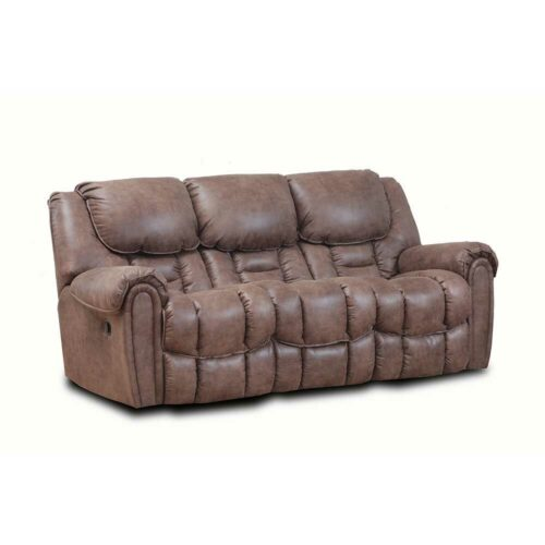 HomeStretch Del Mar Reclining Sofa in Mocha, 90 in. W x 40 in. D x 43 in. H