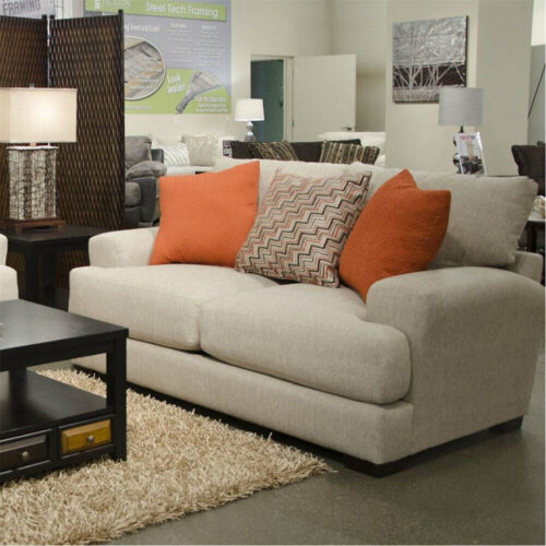 Jackson Furniture Ava Loveseat Sofa With Usb Port in Cashew, 42 in. W x 38 in. D x 77 in. H