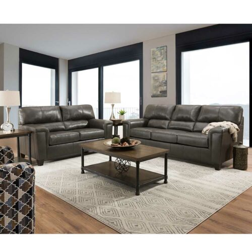 Lane Furniture Home Essentials Soft Touch Fog 3 Piece Living Room Set With Sleeper Sofa, 88 in. W x 37 in. D x 38 in. H