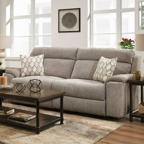 Lane Furniture Home Furnishings Extrovert Silver Power Motion Sofa, 90 in. W x 41 in. D x 42 in. H