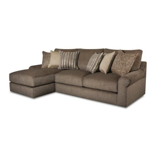 Lane Furniture Home Furnishings Luxe Seating Bellamy Left Arm Facing Chaise Sofa in Cocoa, 39 in. W x 65 in. D X 39 in. H