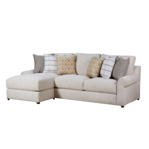 Lane Furniture Home Furnishings Luxe Seating Pompeii Left Arm Facing Chaise Sofa in Snow, 39 in. W x 65 in. D X 39 in. H