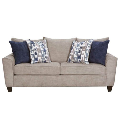 Lane Furniture Simmons Upholstery By Home Furnishings Alamo Grey Queen Sleeper Sofa, 87 in. W x 36 in. D x 39 in. H