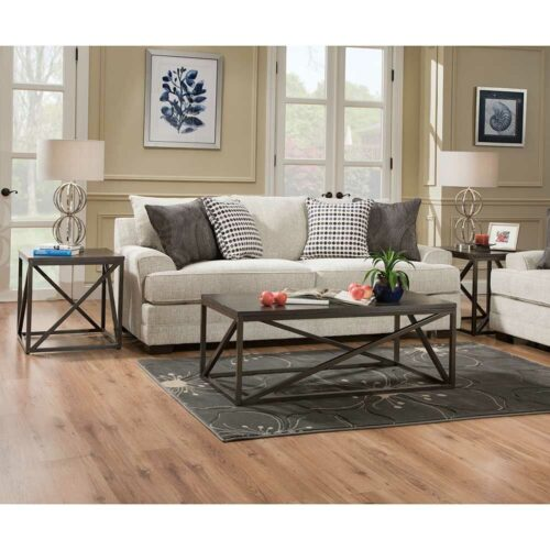 Lane Furniture Simmons Upholstery By Home Furnishings Dillon Driftwood Queen Sleeper Sofa, 89 in. W x 39 in. D x 38 in. H