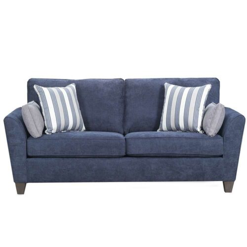 Lane Furniture Simmons Upholstery By Home Furnishings Prelude Navy Upholstered Queen Sleeper Sofa, 88 in. W x 39 in. D x 38 in. H