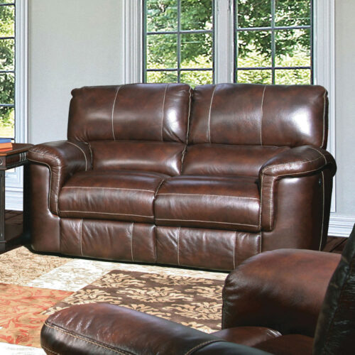 Parker House Living Prestige Hitchcock Dual Power Recliner Loveseat Sofa in Cigar, 69 in. W x 39 in. D x 40 in. H