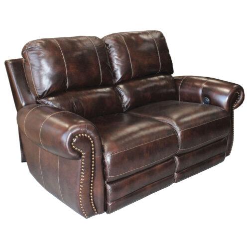 Parker House Living Prestige Thurston Dual Power Recliner Loveseat Sofa in Havana, 67 in. W x 42 in. D x 41 in. H